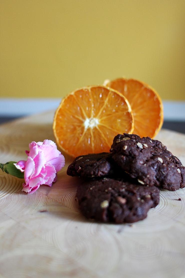 Vegaaniset suussa sulavat suklaakeksit