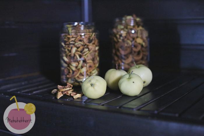 Kuivatut omenat, helppo ohje!