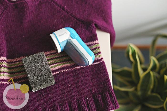 Vaatteen ja neuleen siistiminen, testissä nukanpoistajat!