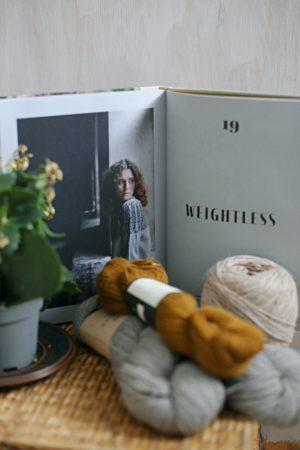 onnensäikeitä kirjoneulekirja weightless